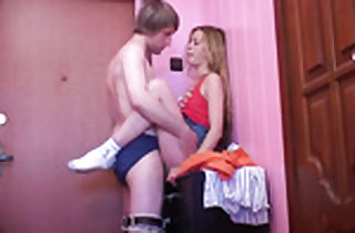 Junior student blonde fucked from behind